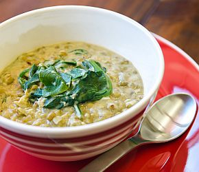 Mung Bean and Spinach Stew 2