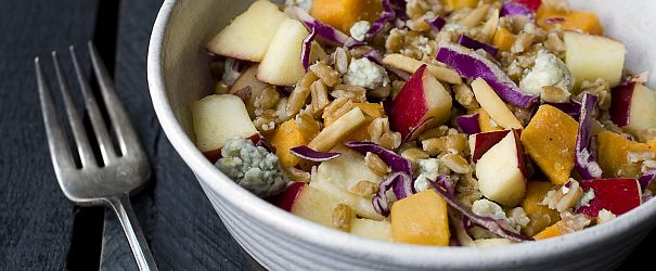 Farro Salad with Apples and Sweet Potatoes F