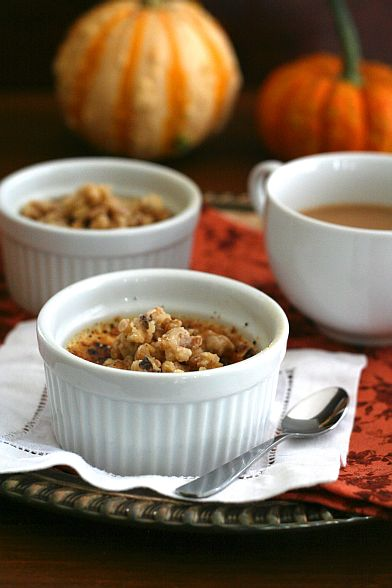 Maple Walnut Creme Brulee low carb