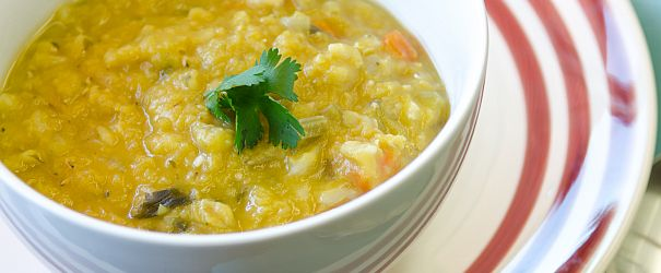 Red Lentil and  Barley Stew