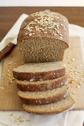 Whole Wheat Honey Oatmeal Bread from Girl Versus Dough