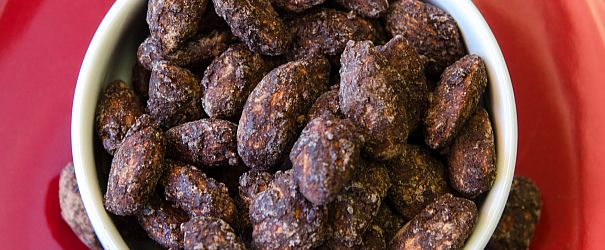 Candied Chocolate Almonds F
