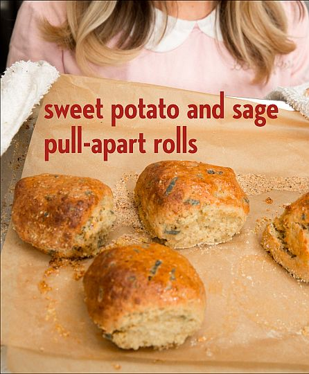 Sweet Potato and Sage Pull Apart Rolls from Bread & Butter by Erin McKenna | Bob's Red Mill @bobsredmill |gluten free, vegan