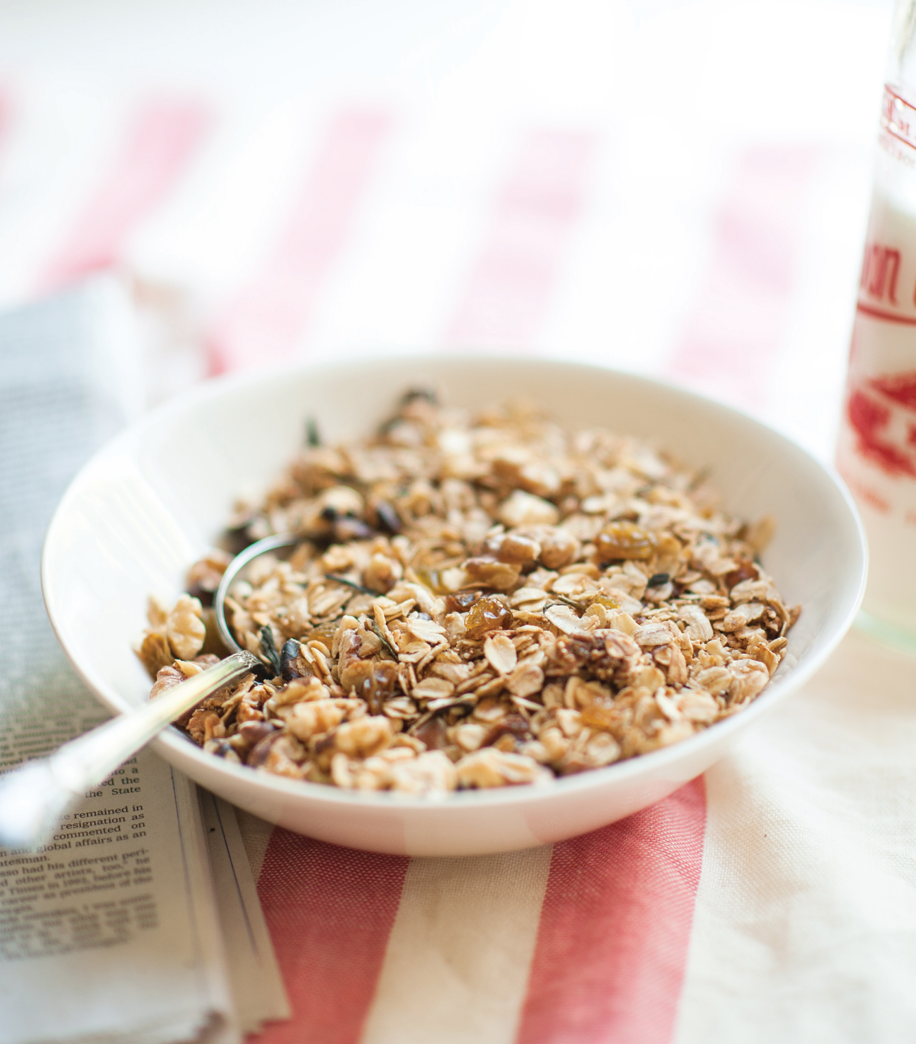 Green Tea Granola from Steeped by Annelies Zijderveld | gluten free adaptable.