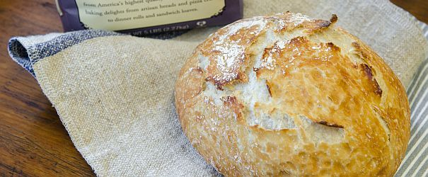 No-Knead Artisan Bread from Bob's Red Mill. Easy