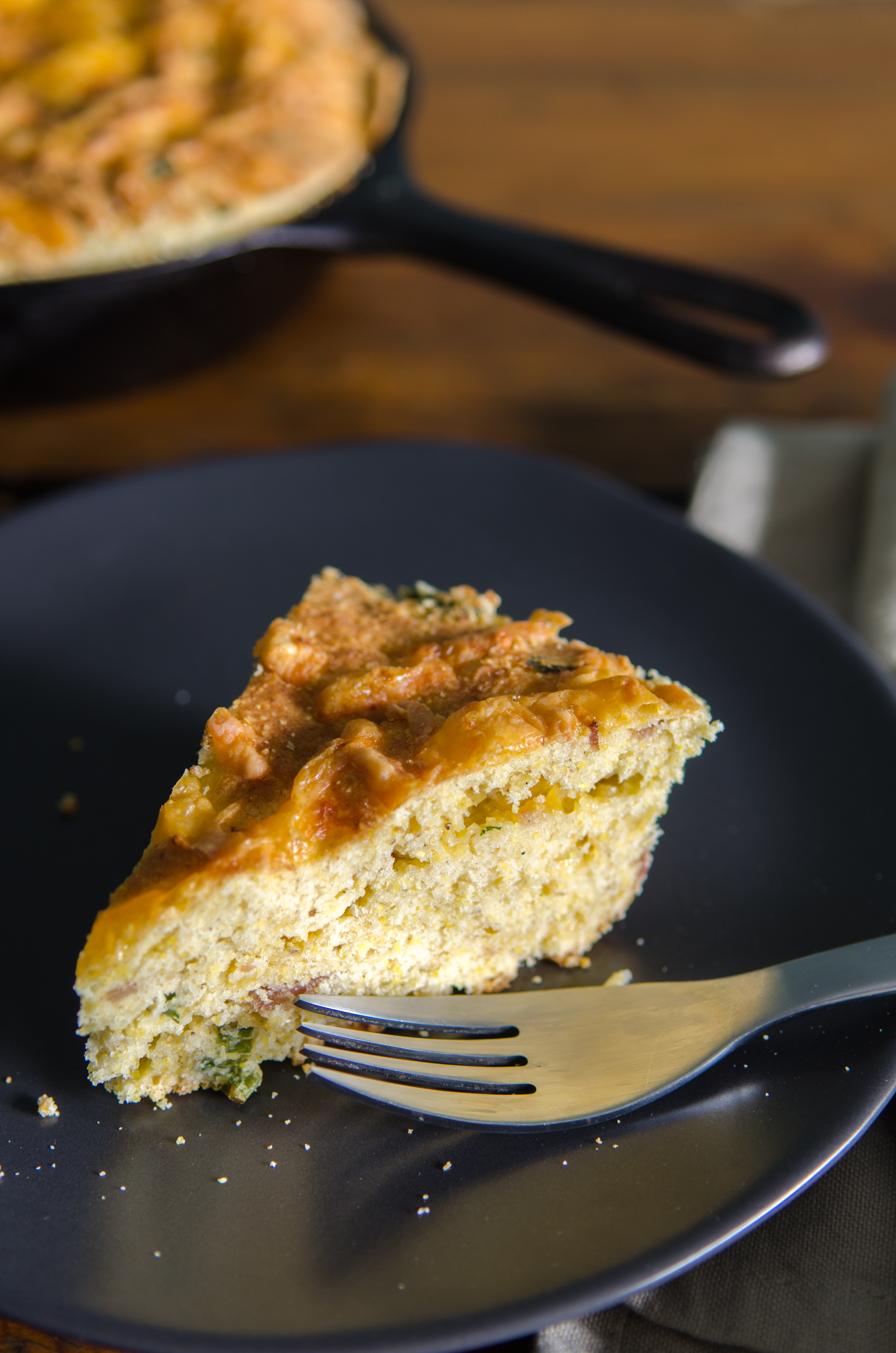 Gluten Free Bacon, Sage and Cheddar Cornbread perfect for any occasion and sure to be a hit at your next barbecue. | Bob's Red Mill