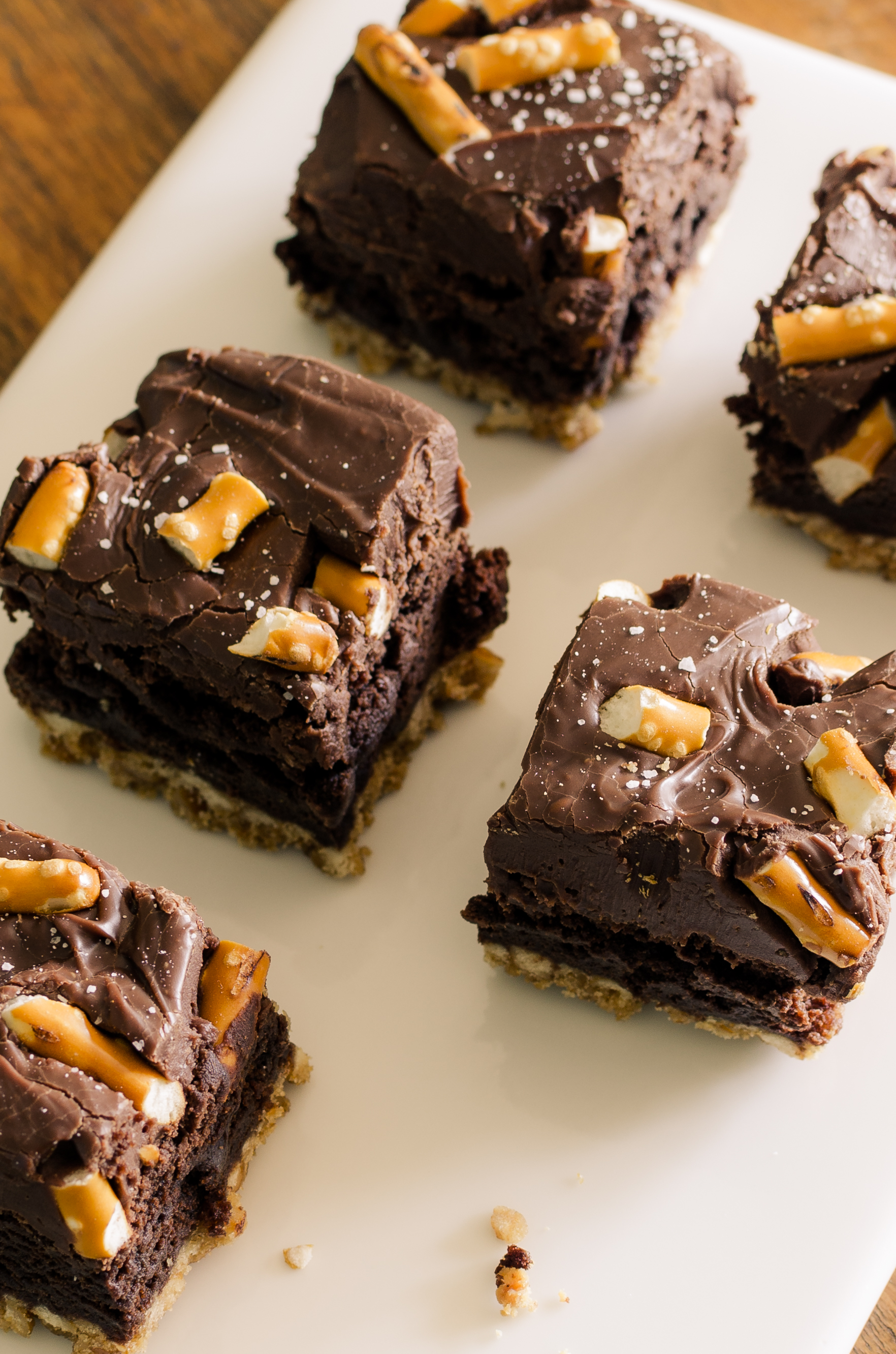 Pretzel Brownies- gluten free | Bob's Red Mill