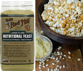 What is it? Wednesday: Nutritional Yeast. AKA nooch, this nutritional supplement has a cheesy flavor and is a good source of B vitamins.   Bob's Red Mill    vegan, gluten free, paleo