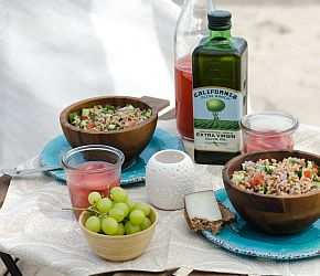 Mediterranean Farro Salad A simple, zesty salad full of fresh herbs and vegetables. Vegan, Easy, Healthy   Bob's Red Mill