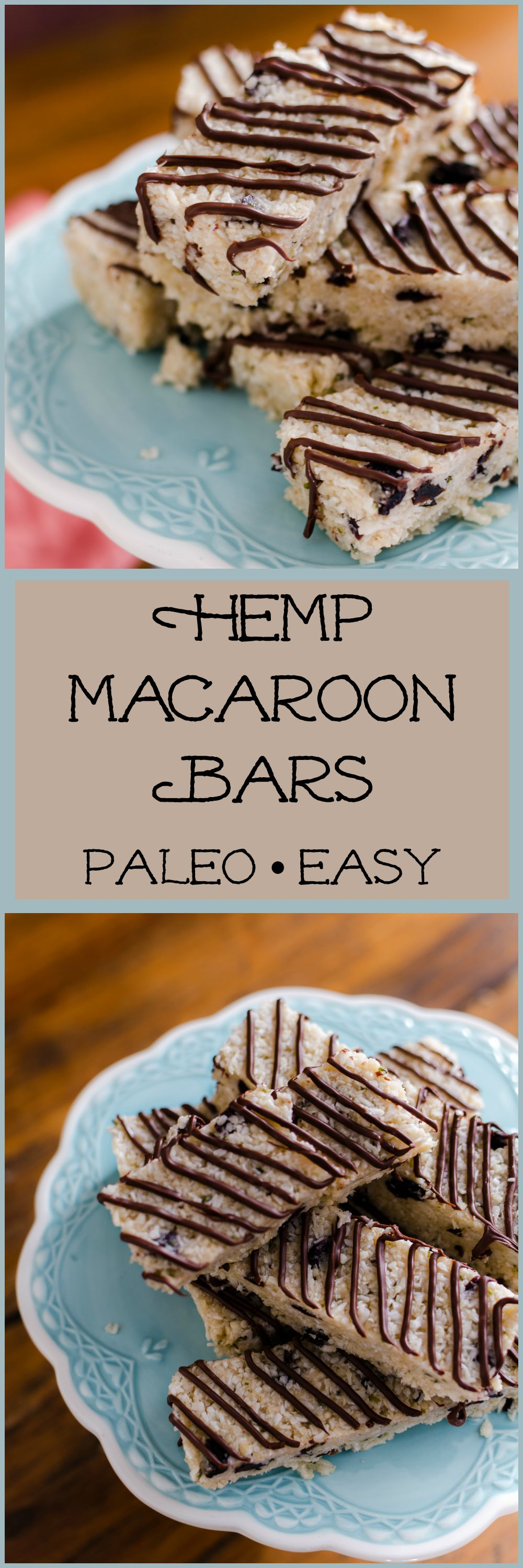 Hemp Macaroon Bars- everything you love about macaroons with a super-food twist. // Bob's Red MIill// vegan, gluten free adaptable, easy