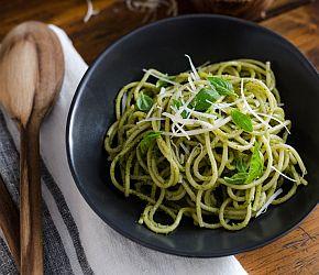 Easy, addictive Hemp Pesto perfect for pasta, pizza and sandwiches. // Bob's Red Mill // gluten free, vegetarian