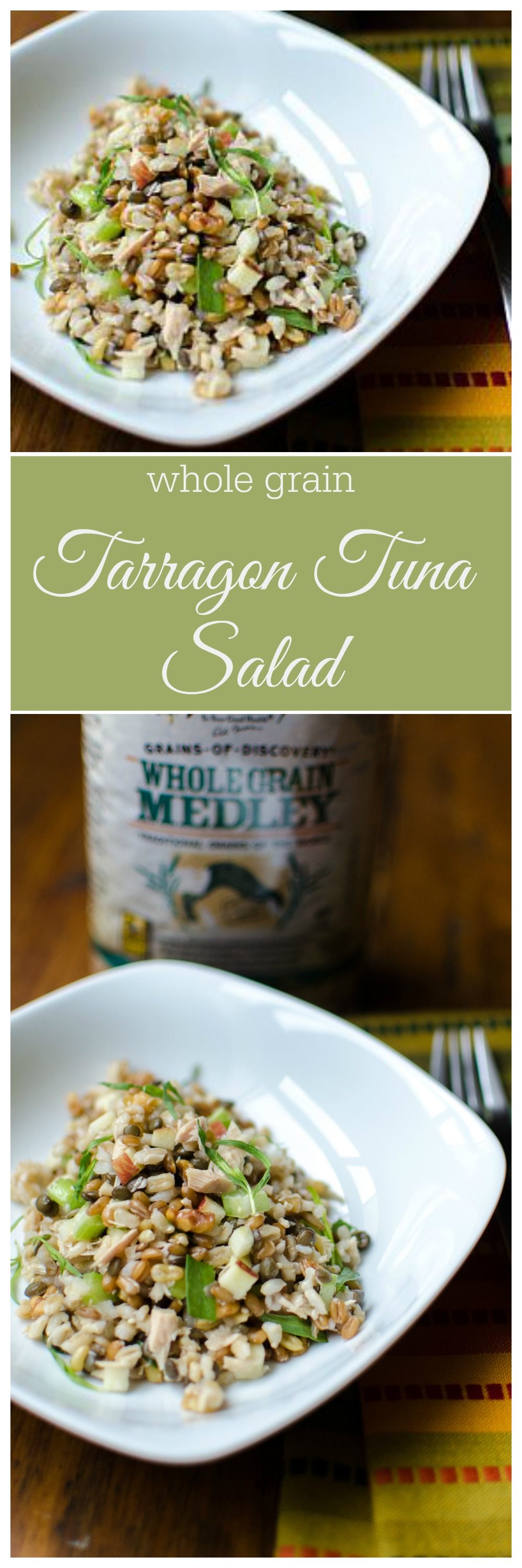 Tarragon Tuna Salad- a zippy, whole grain salad perfect for hot summer nights. // Bob's Red Mill