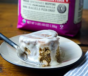 Quick and Easy Cinnamon Rolls made with whole wheat flour. No kneading. No rising. Just plain deliciousness!   Bob's Red Mill