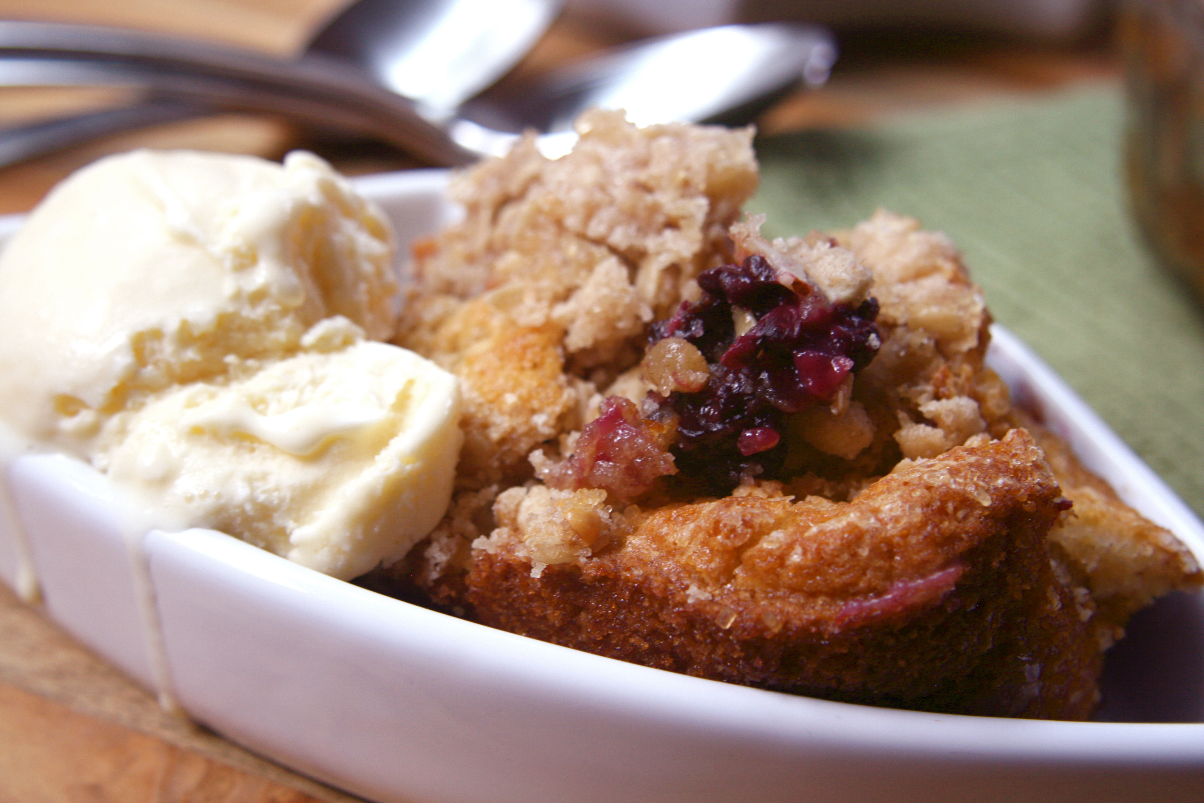 Deliciously gooey Blackberry Cobbler made using our Gluten Free Muesli  // Bob's Red Mill