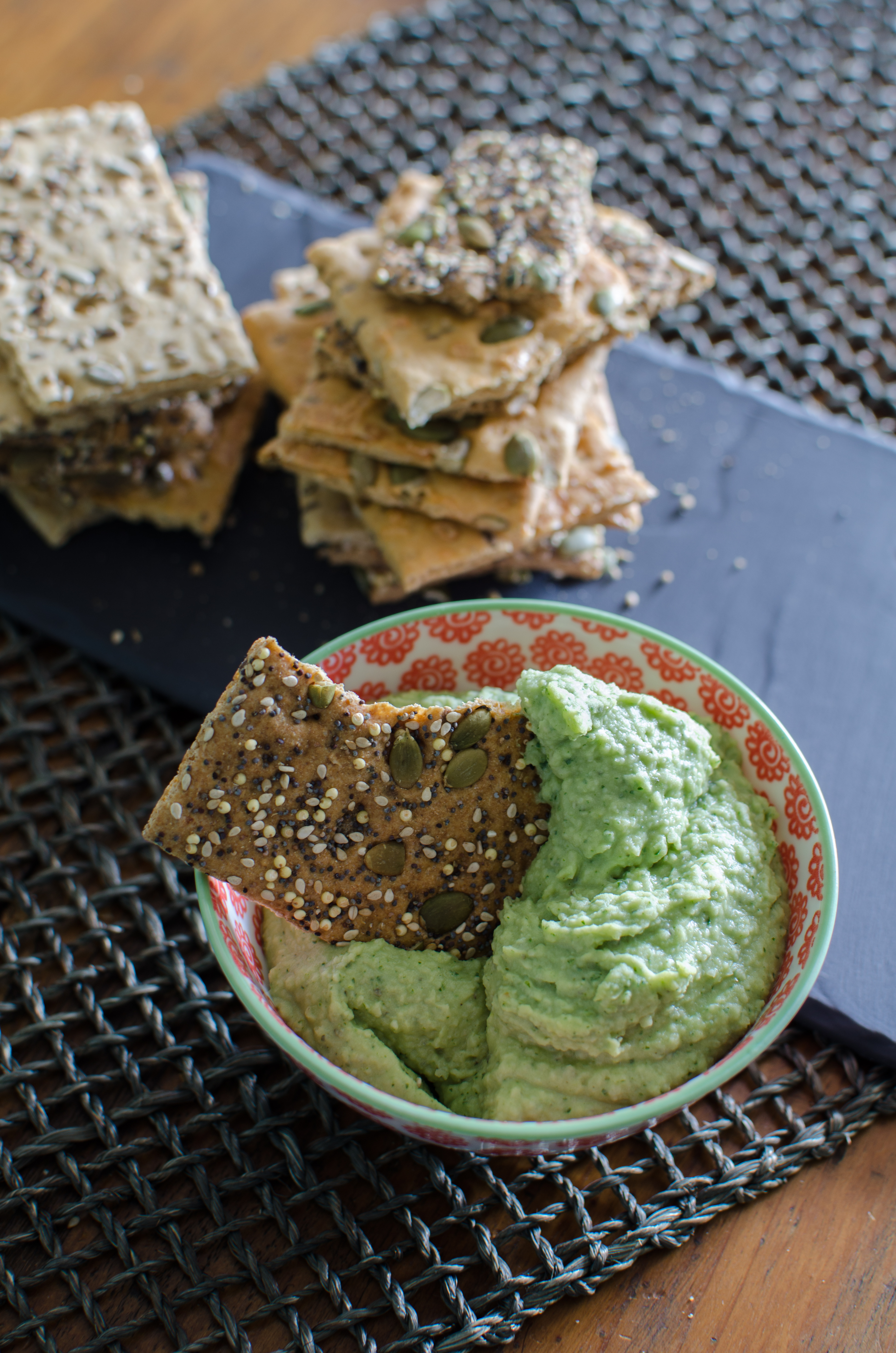 Cannellini Herb Dip makes a perfect appetizer, snack, and sandwich spread. | Bob's Red Mill | vegan