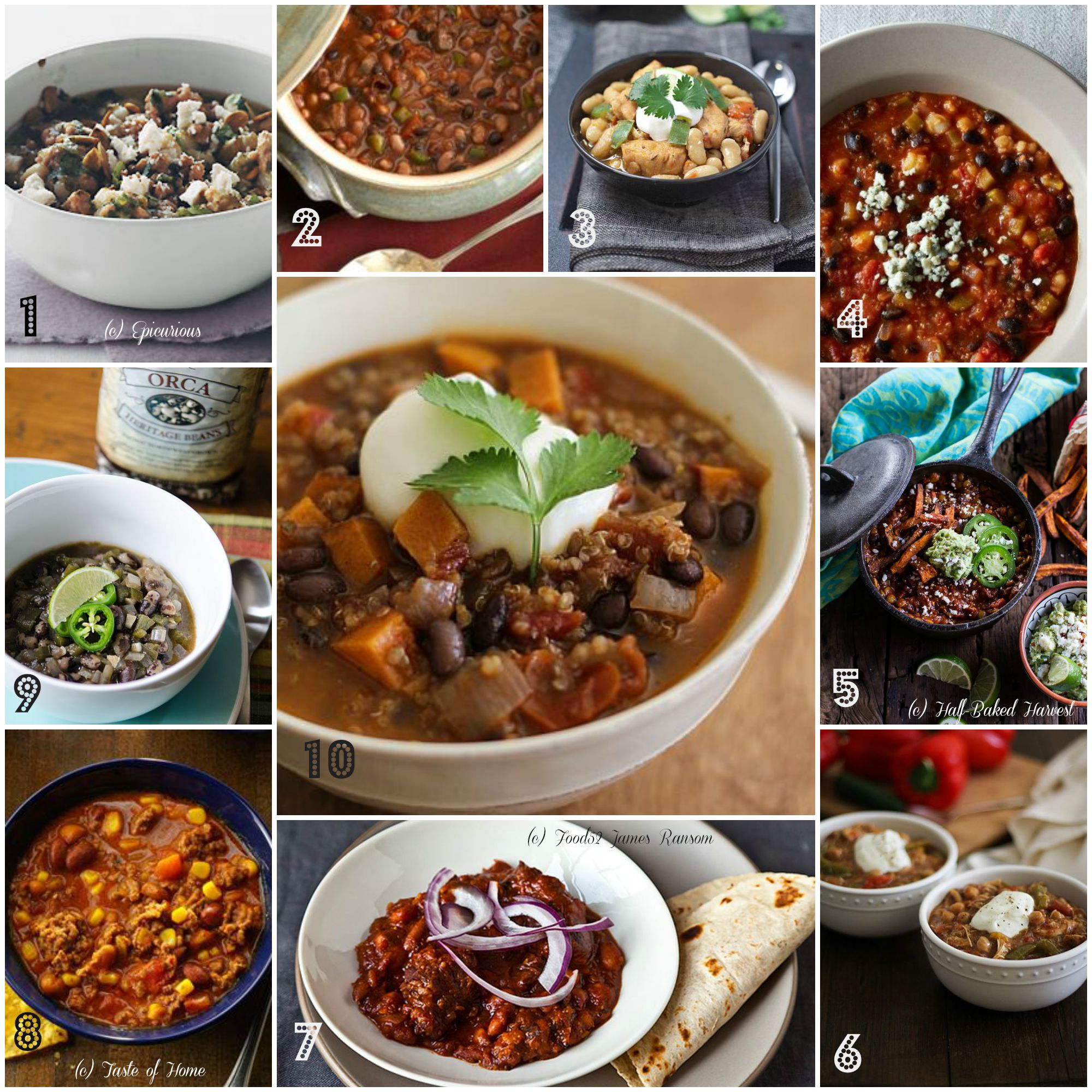 10 Killer Chili Recipes for fall! Vegetarian, Gluten Free, Meat-heavy, Green, White, we have all types listed! | Bob's Red Mill