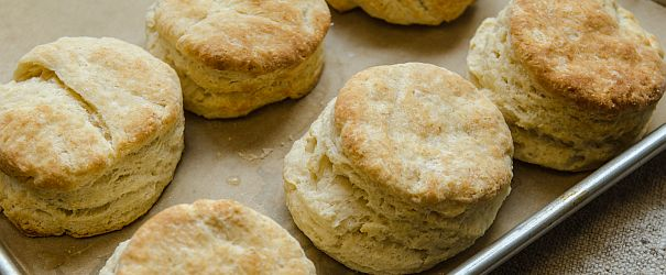 Perfectly fluffy and flaky Old Fashioned Buttermilk Biscuits- perfect for Thanksgiving, breakfast or just slathered in butter and jam. | Bob's Red Mill