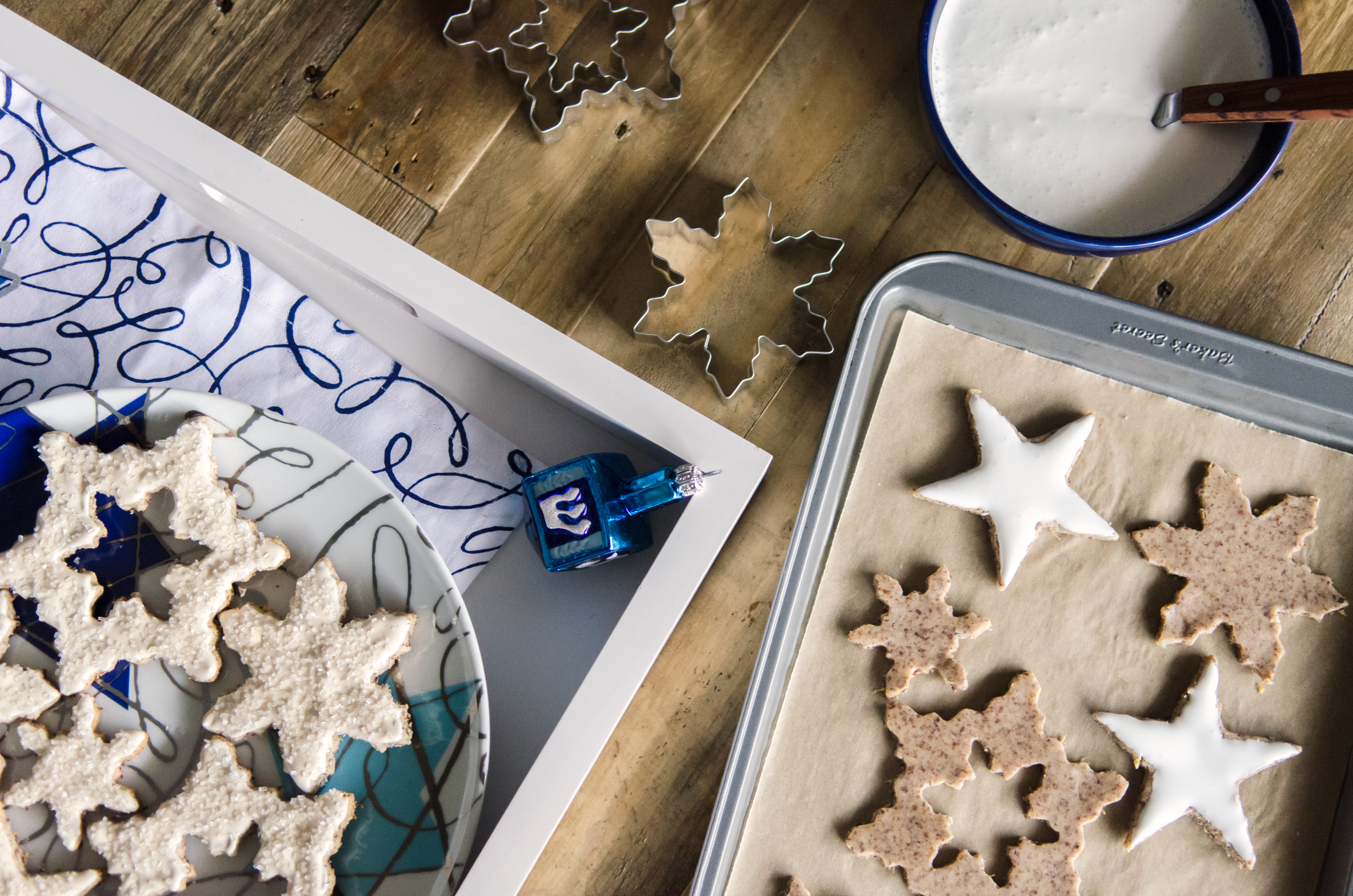 Sparkling Stars and Snowflake Cookies- made gluten free using our almond meal. Perfect family activity during the holidays. // Bob's Red Mill