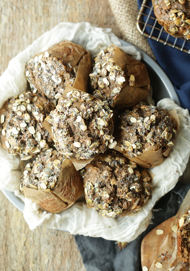 Super moist Multi-Seed Banana Muffins with Maple and Honey // @ChefBillyParisi for Bob's Red Mill