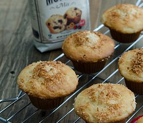 Tropical Getaway Muffins made using our Gluten Free Muffin Mix- super easy! Gluten Free // Bob's Red Mill
