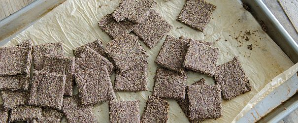 Flax Crackers that meet almost all dietary needs- vegan, gluten free, paleo // Bob's Red Mill