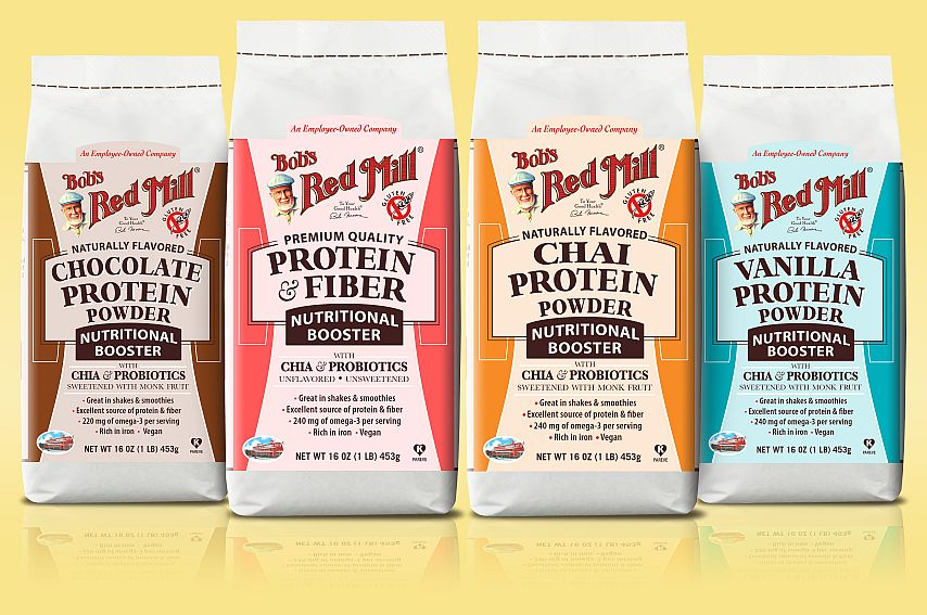 Get your protein, fiber and probiotics on the go with Bob's Red Mill Nutritional Boosters!  // vegan, gluten free, no sugar