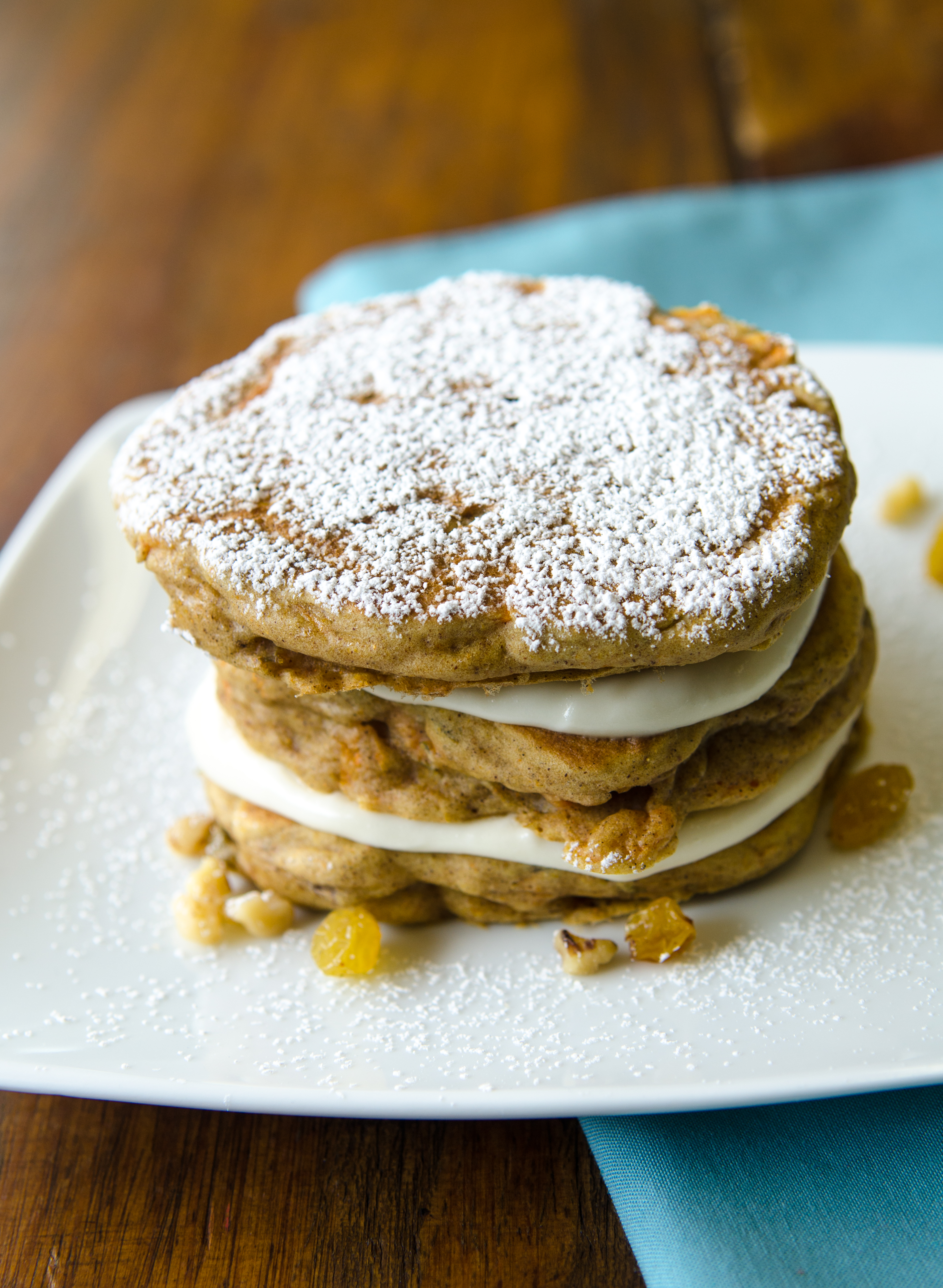 Carrot Cake Pancakes are a fun way to make breakfast a special meal, instead of an afterthought. // @BobsRedMill