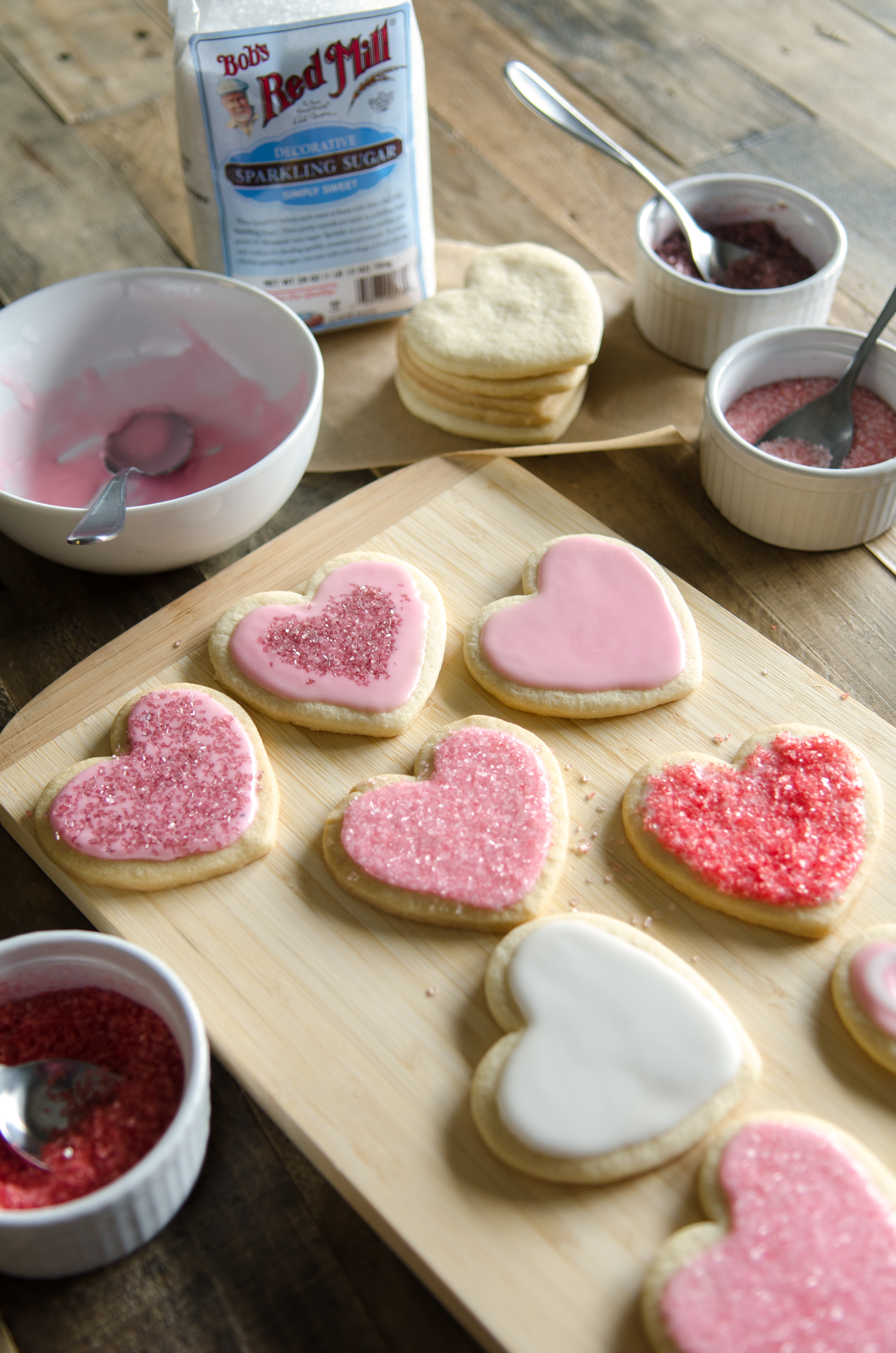 Rose Flavored Valentines Cookies :: Show your Valentines how much you care with these delicately rose flavored sugar cookies. // @bobsredmill
