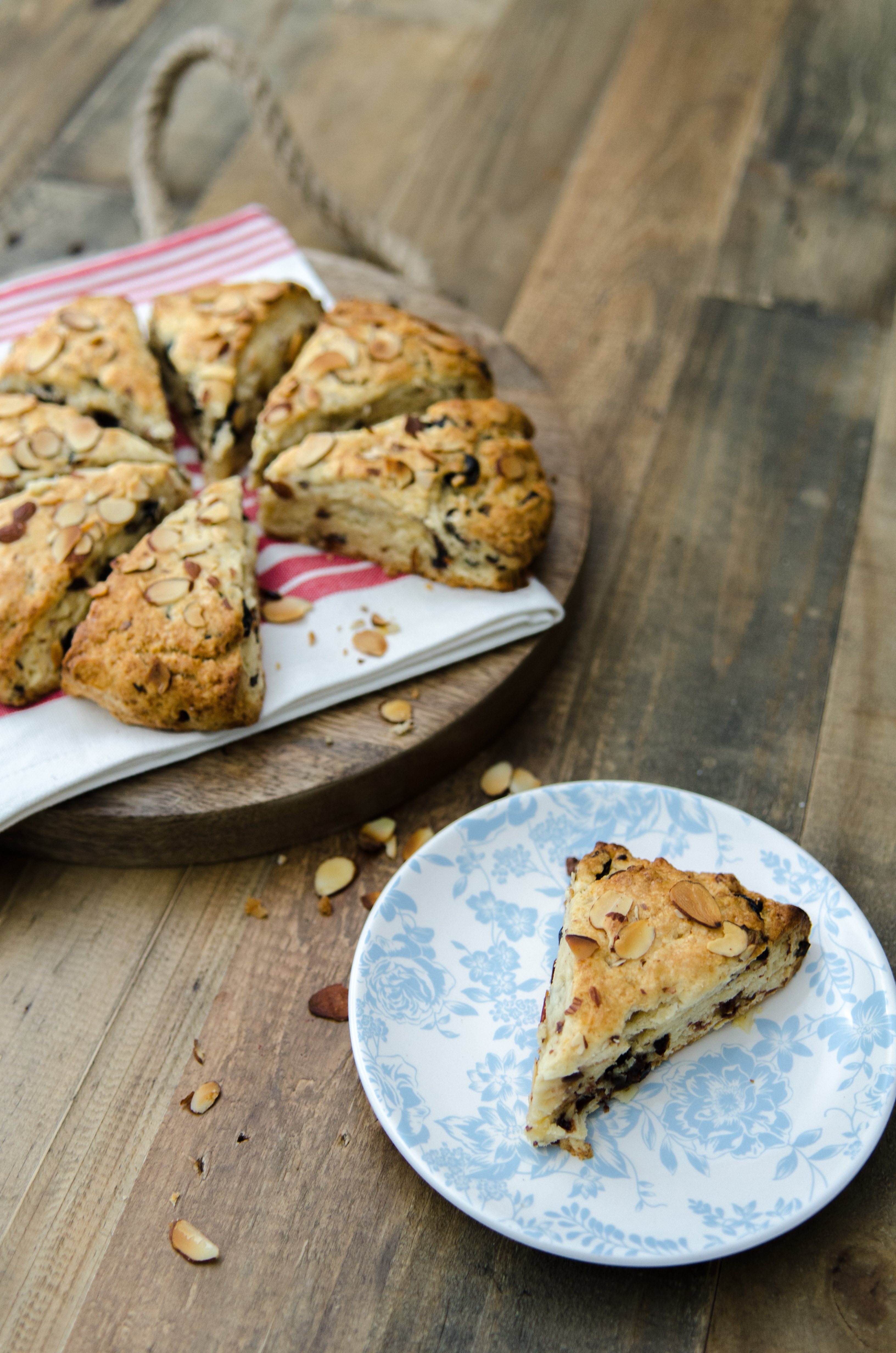 Cherry Almond Scones: These cherry almond scones are a lovely way to celebrate the end of winter and the start of new life. // @BobsRedMill