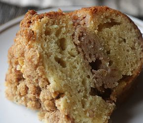 The perfect morning begins with a tall mug of hot black coffee, no cream or sugar please, and a delicious coffee cake.  This Coffee Cake with Butter Pecan Streusel is exactly what is needed. // @BobsRedMill and @ChefBillyParisi