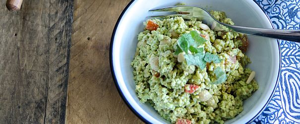 Lemon Mint Freekeh Salad F