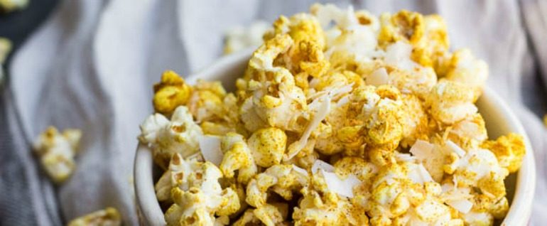 Curry Coconut Popcorn