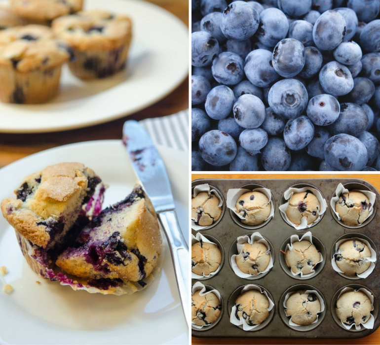 Fourth of July Muffins: Sour Cherry & Ricotta